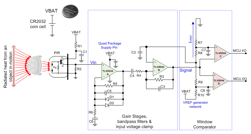 How to bias PIR sensors to prolong battery life in wireless motion