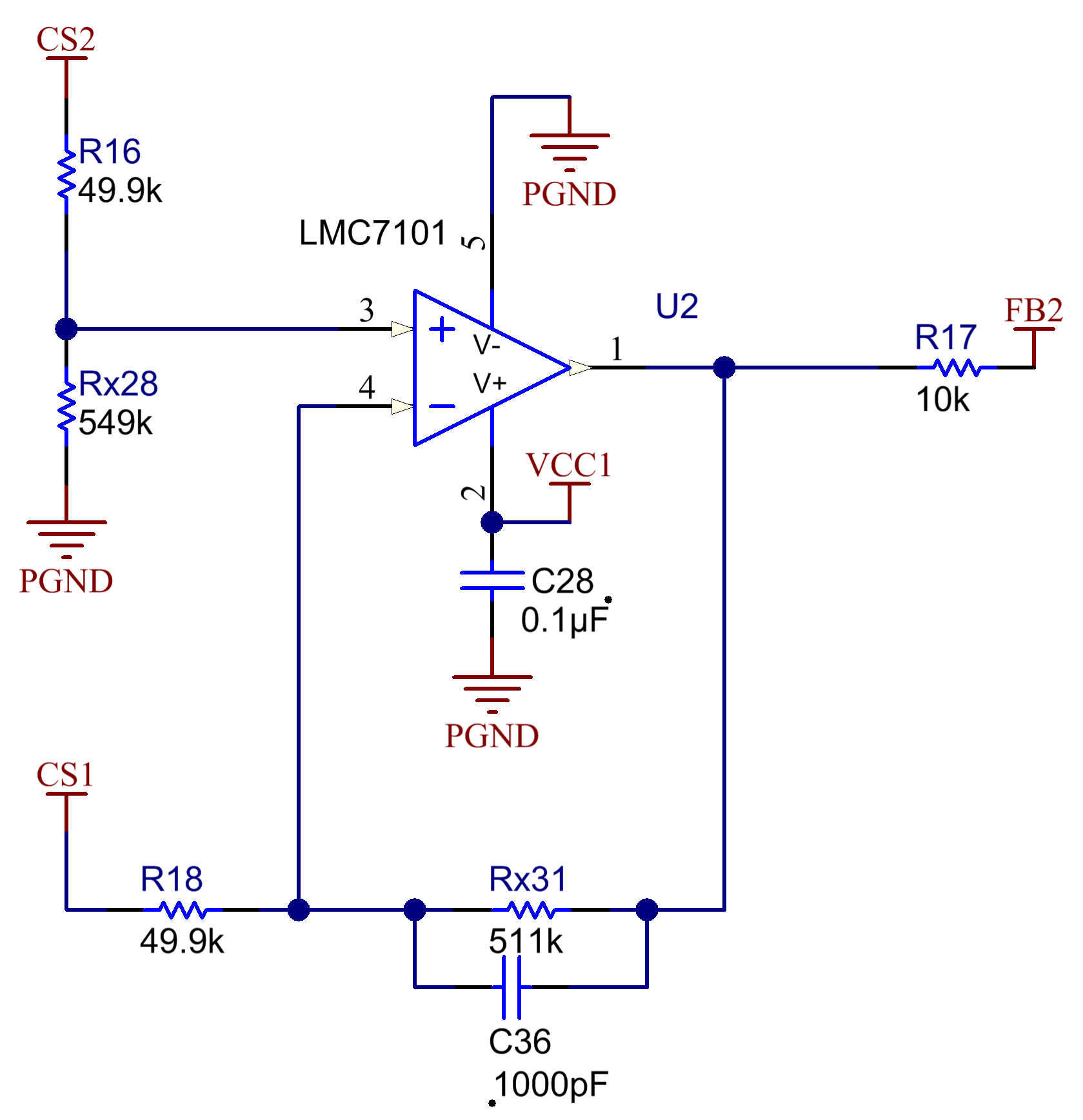 How To Design A Simple Two Phase Current Sharing Synchronous Buck Sensing Slave Power Switch Figure 3 Shows The Actual Of Sense Amplifier Using Nearest Preferred Values