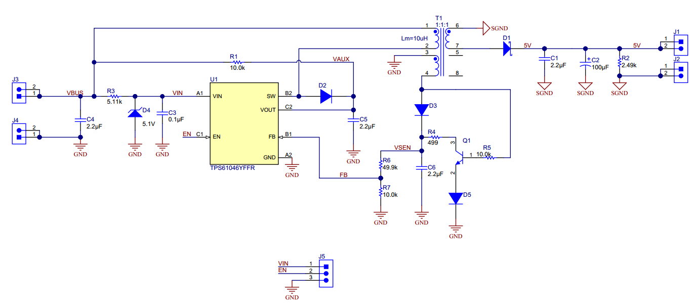 Power A Rs 485 Transceiver With High Efficiency Flyback Converter Fig 4 Boost Evaluation Circuit Figure 2 Schematic Of Primary Side Regulation