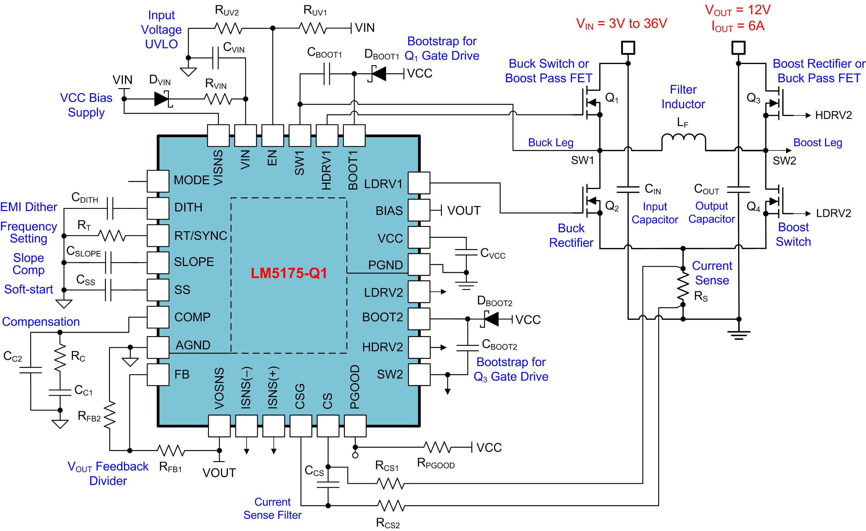 Buck Boost Regulator Benefits Automotive Conducted Immunity Power With Output 12v Electronics Forum Circuits Projects And Figure 2 Four Switch Synchronous Solution A Wide Vin Range Of 3v To 36v