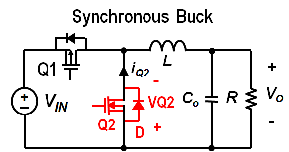 Input and output capacitor considerations in a synchronous buck