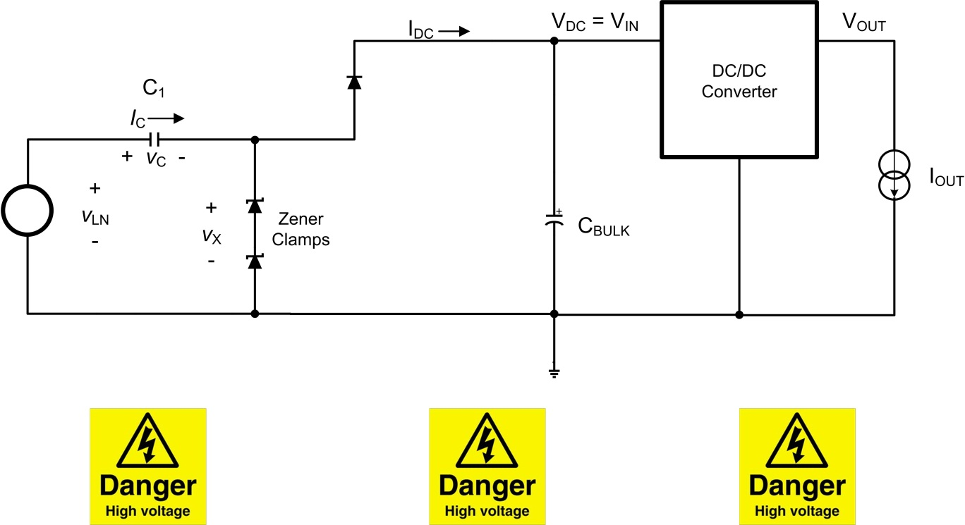 Cap Drop Offline Power Supply Michaelieclark Transformerless 12v For Light Load Applications Made Simple