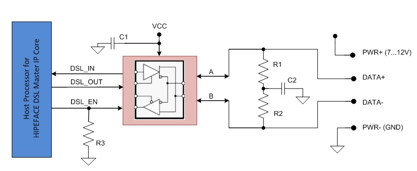 design an emc compliant interface to motor position encoders figure 1 four wire interface circuit separate encoder cable