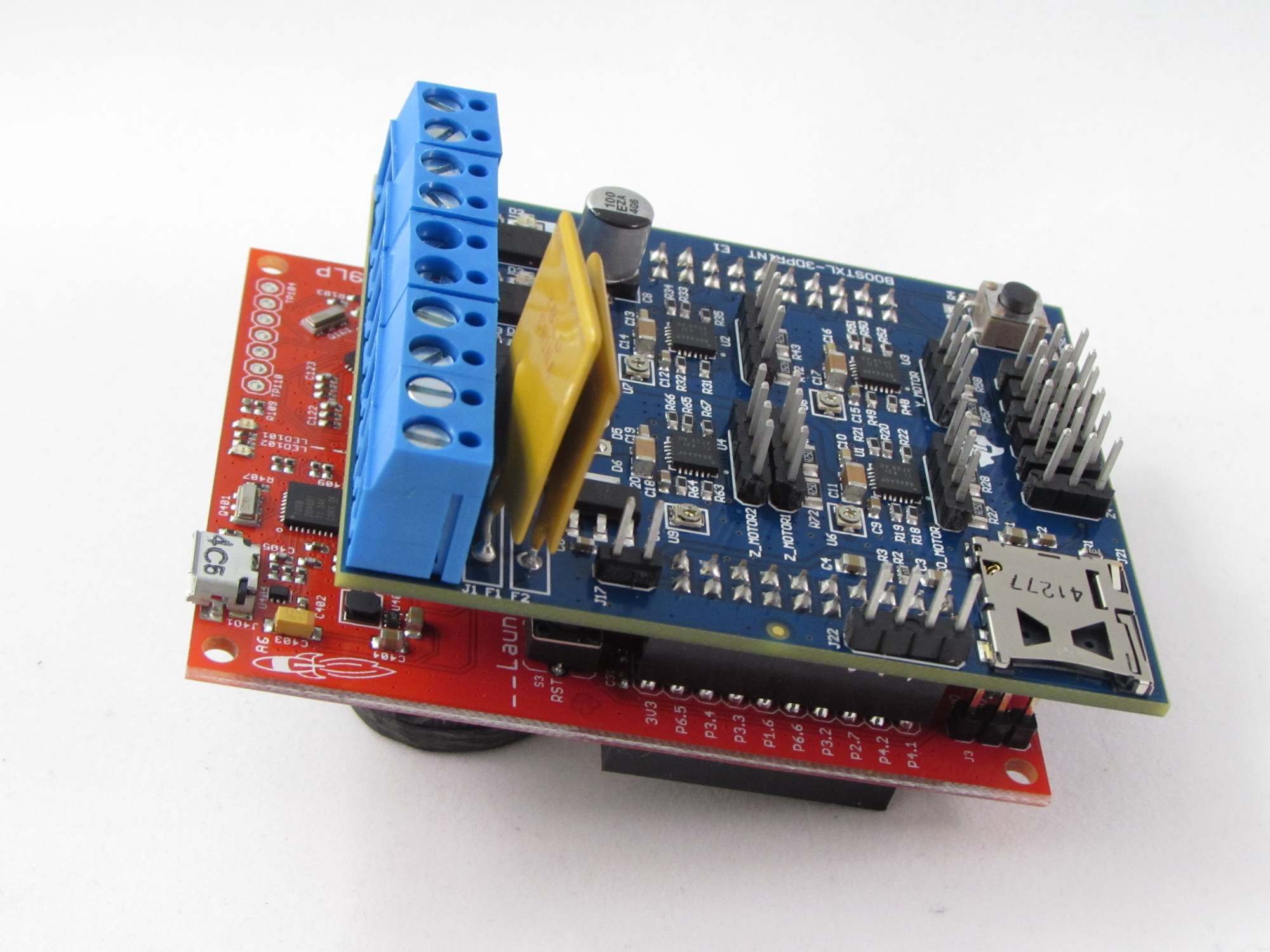 Under The Hood Of A 3 D Printer Part 1 Motor Drive Control To Make Printed Circuit Board Using Diode Laser With 3d Tida 00405 Reference Design