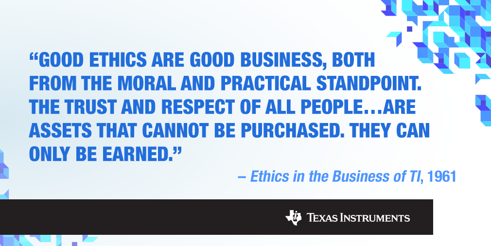 The history and culture of ethics at TI - Think. Innovate ... Good Ethics