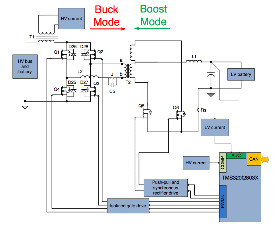 Hev Ev Needs A Boost At Start Up In Other Words The Bi Directional Design Will Need Buck Mode To Step Voltage Down And