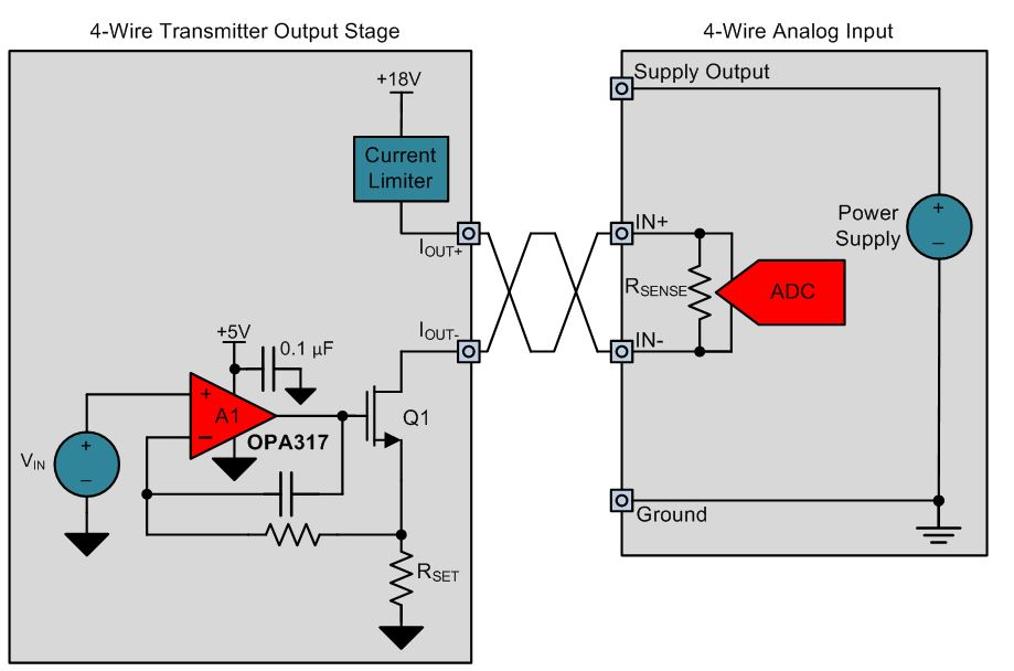 4wire2 designing output isolated 4 wire sensor transmitters precision 4 wire sensor diagram at gsmportal.co