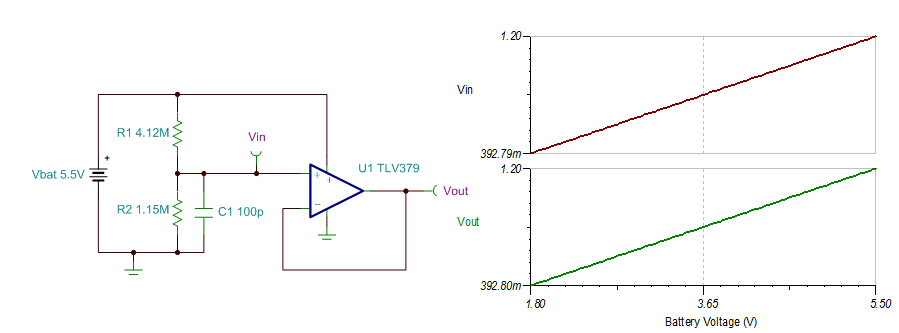 however like most low power op amps the tlv379 does not perform well while driving capacitive loads so check the stability of the circuit when designing