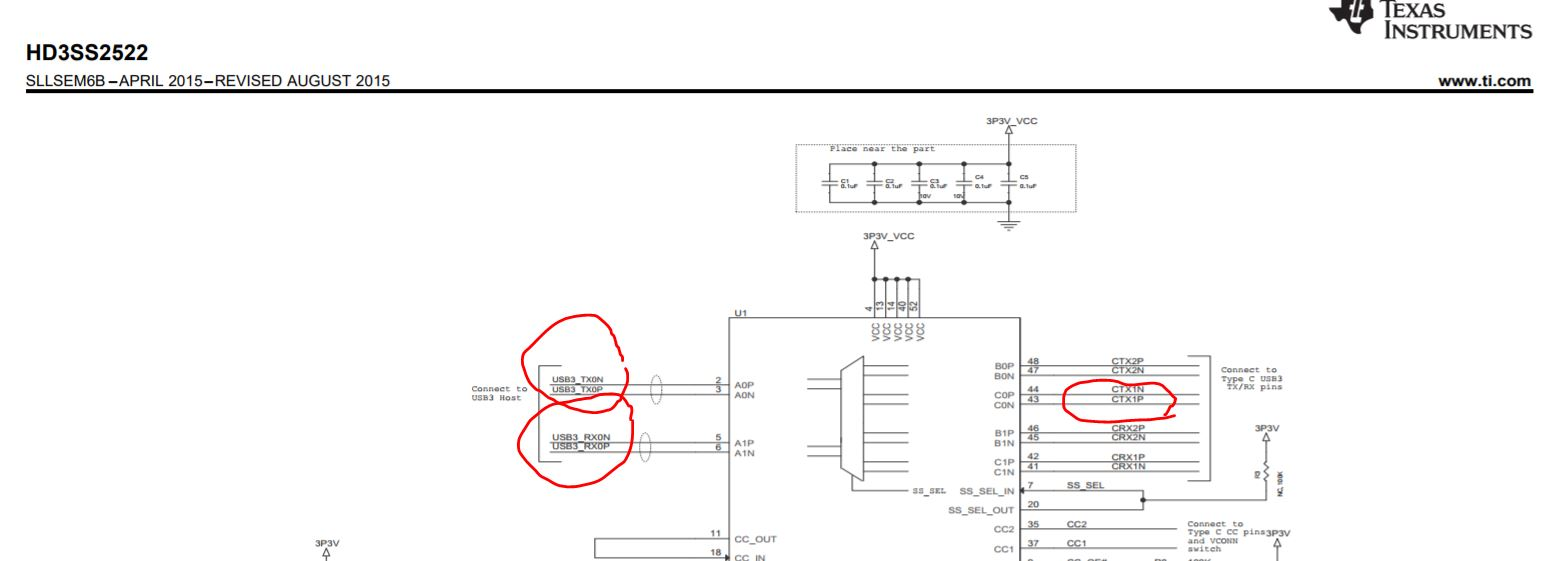 Resolved] HD3SS2522: HD3SS2522 schematic trace define issue - USB ...