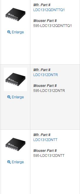LDC1312: part number - Sensors forum - Sensors - TI E2E