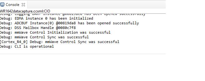 Resolved] CCS/IWR1642: Capture Demo data memory capture mode over