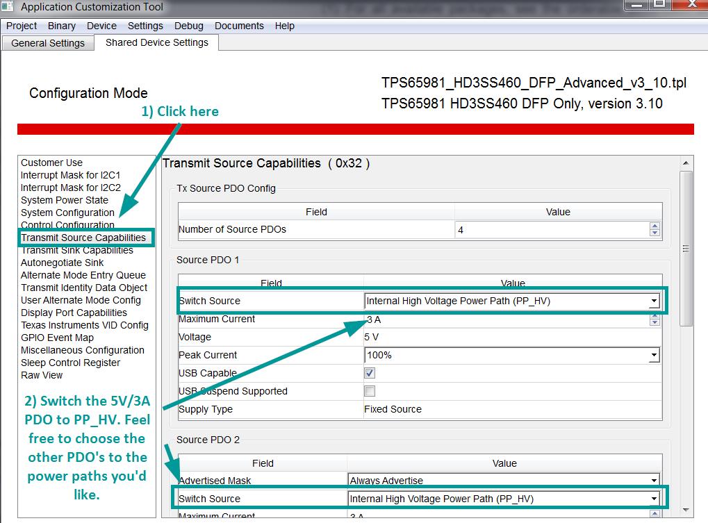 Resolved] TPS65981: TPS65981 5V to PP_HV and PP_5V0 both