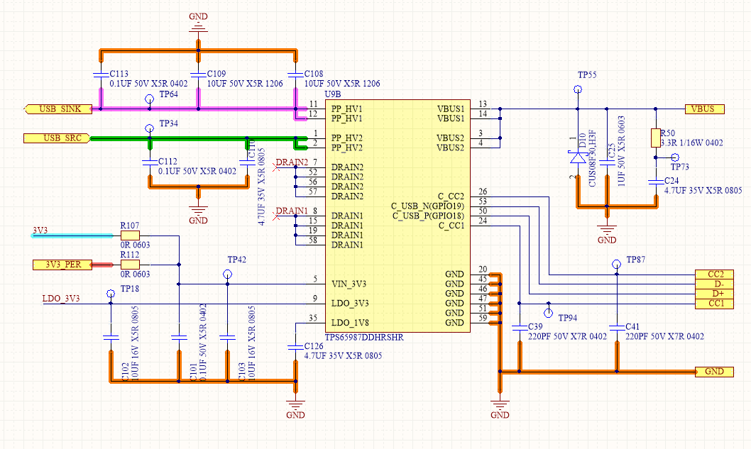 TPS65987D: USB PD Controller damaged (Low impedance VBUS to