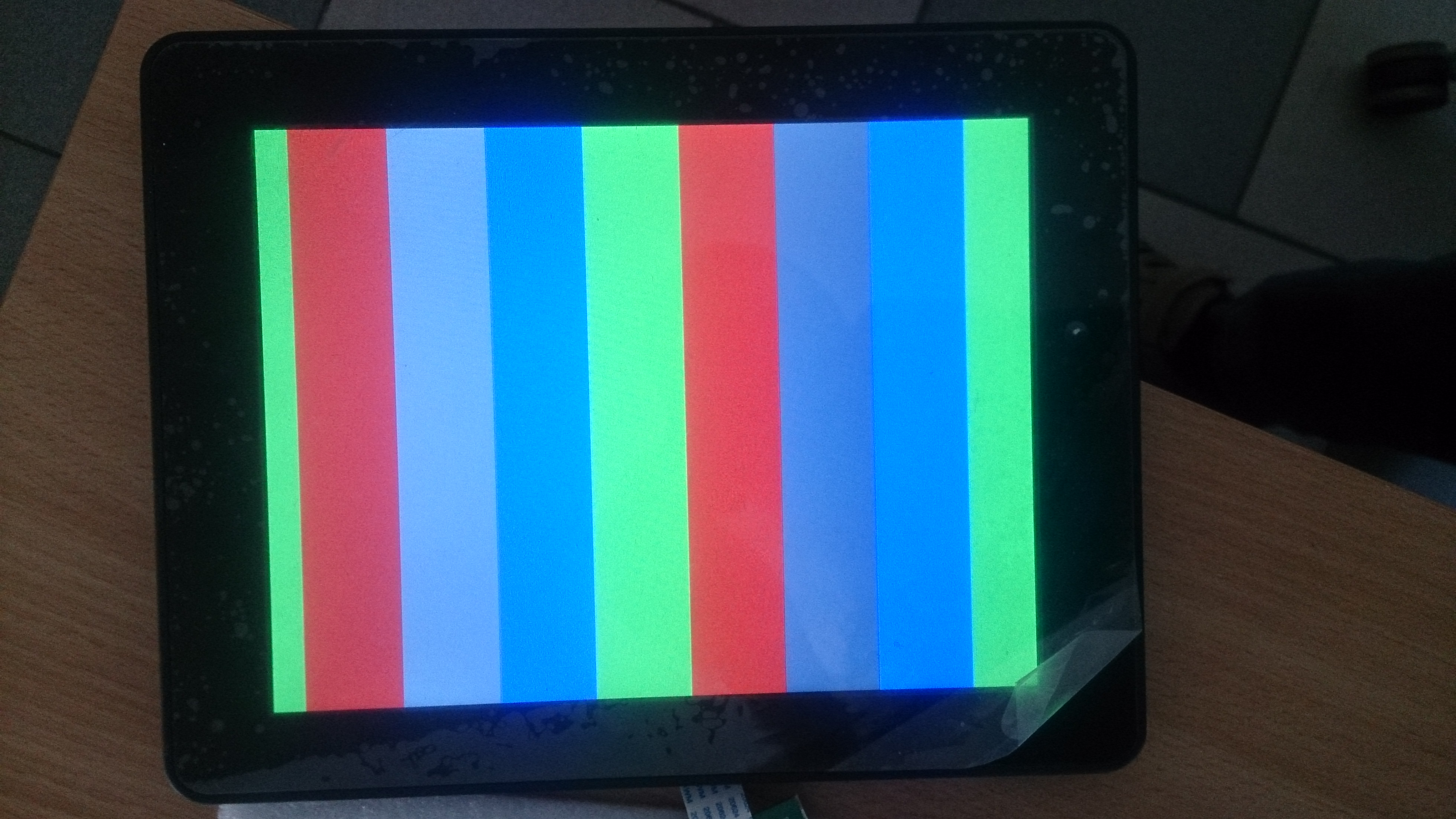 This is my display single channel with test pattern enabled Is this picture shows correct test pattern image What i will see if all things will