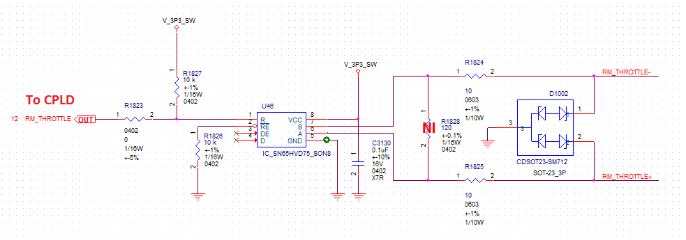 Resolved] SN65HVD75: schematic review - Interface forum