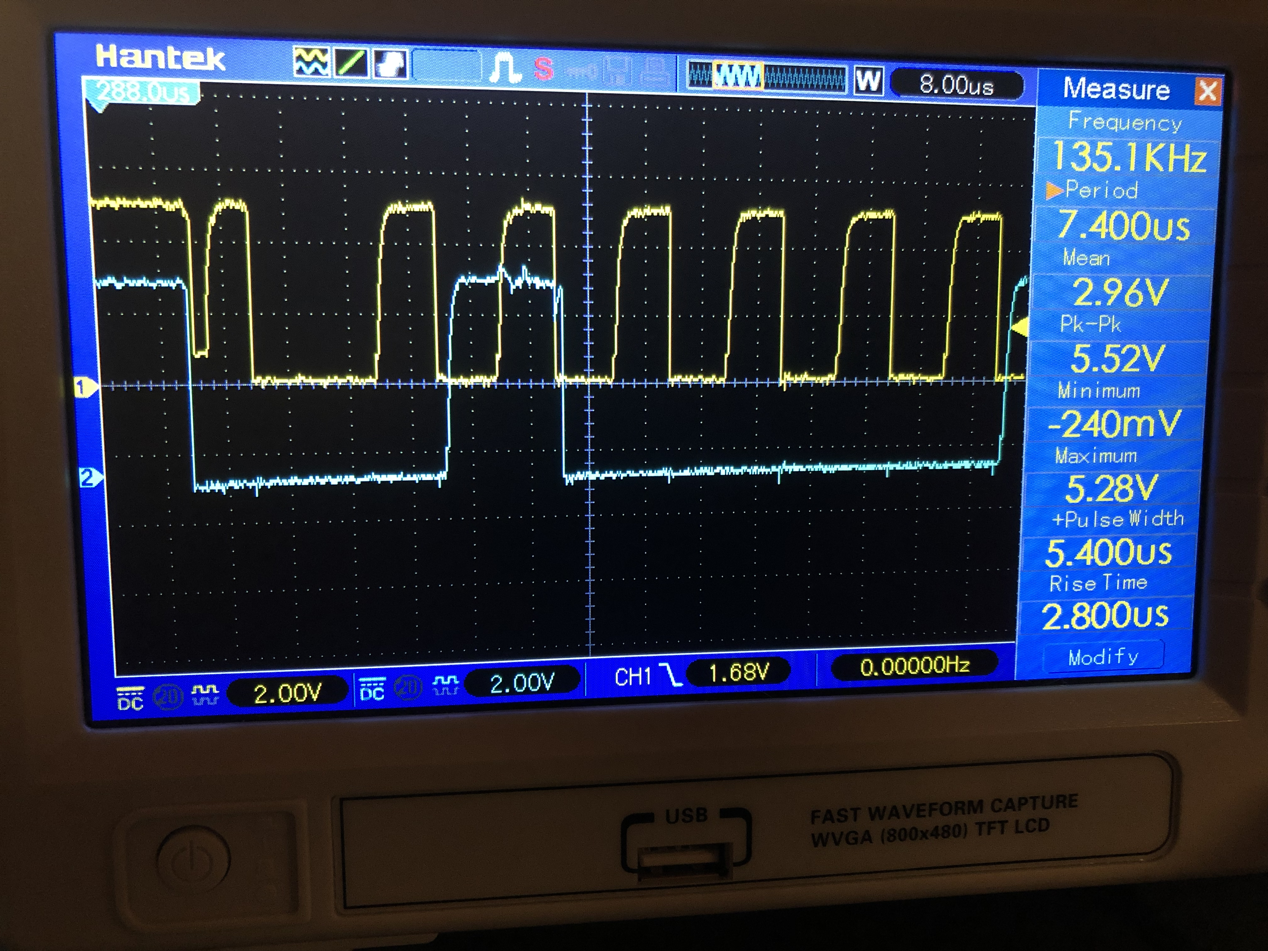 P82B96: Down-spike on the SCL line when SDA enters start