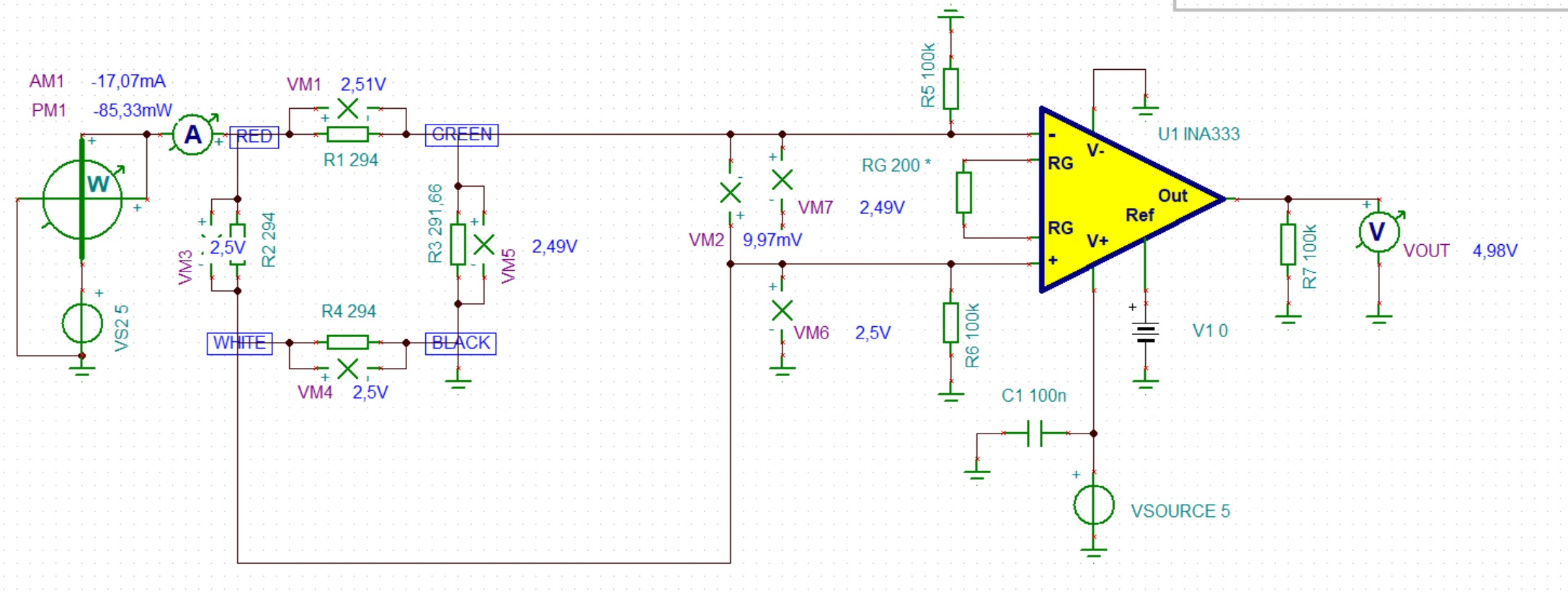 Ina333 Unstable Voltage At Differential Inputs With A Load Cell Innovate Lc 1 Wiring I Used An Input Signal Varying From To 2v And The Is Showing Desired Gain On Output For This Reason Am Confident That