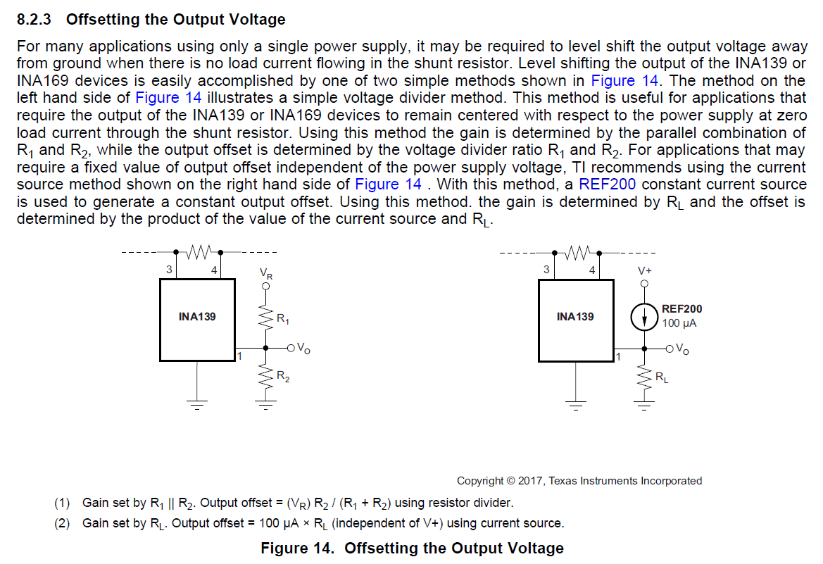 Resolved Ina139 Measurement Delay After Negative Common Mode Below Is A Current Divider Circuit With Voltage Source This Should Fix The Problem But If Not Other Option To Use Output Sense Amplifier Part Much Lower Vos And Reference