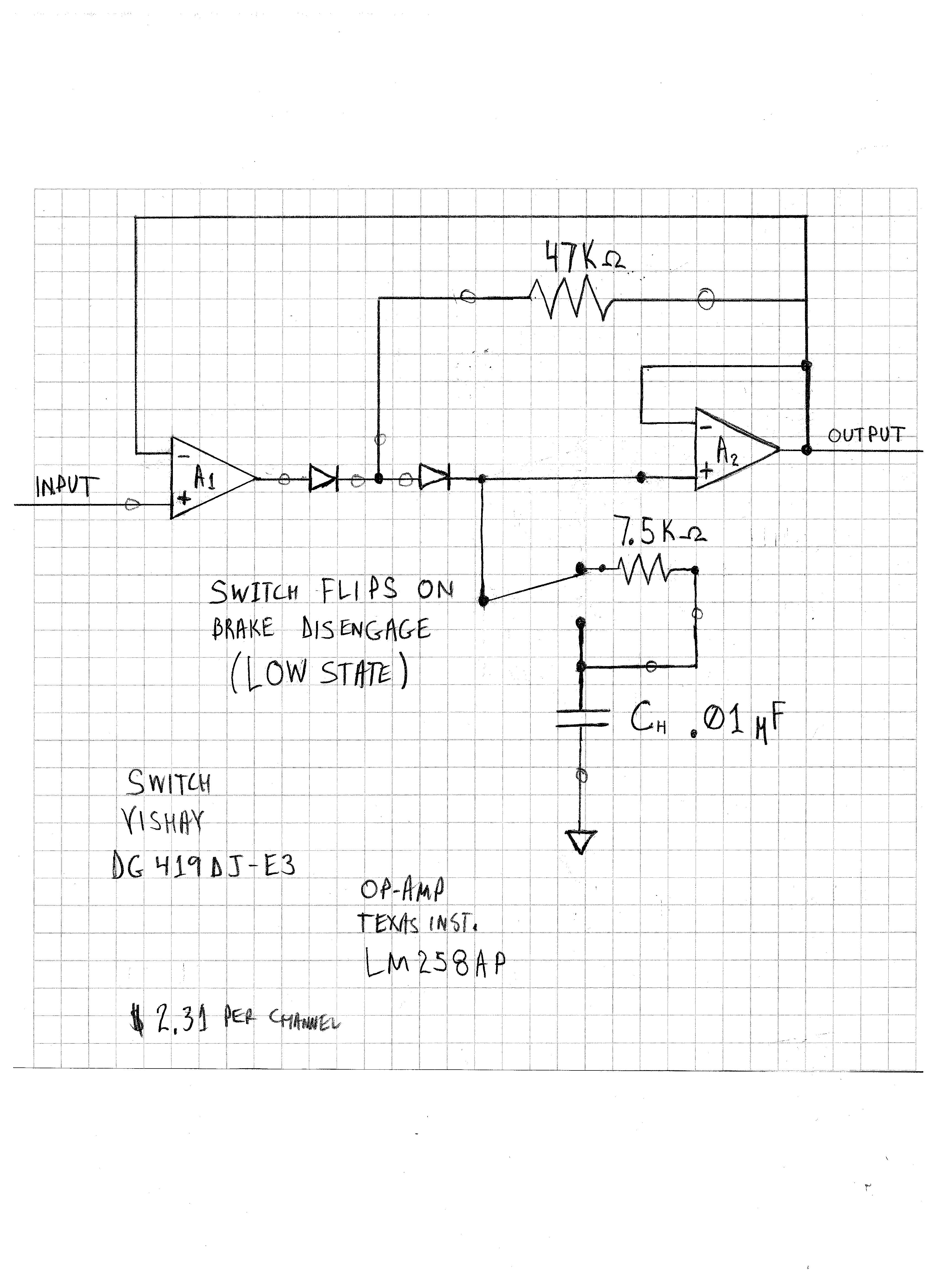 Lf198h Sample And Hold Circuit Amplifiers Forum Ti Lm339 This Is A Basic Two Contact Touch Switch Sensor Not In Peak Collect Mode I Also Wanted The Capacitor Voltage Relatively Same Neighborhood When Acquisition Window