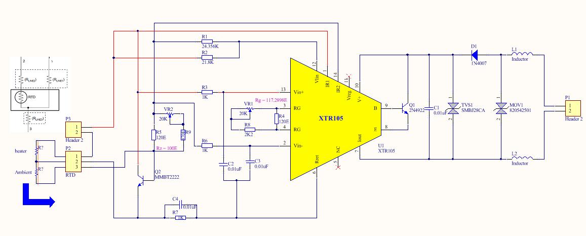 schematic for rtd sensor schematic