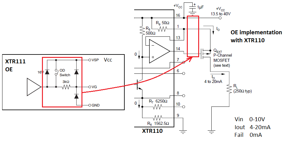 resolved  xtr110 enable  disable circuit - precision amplifiers forum