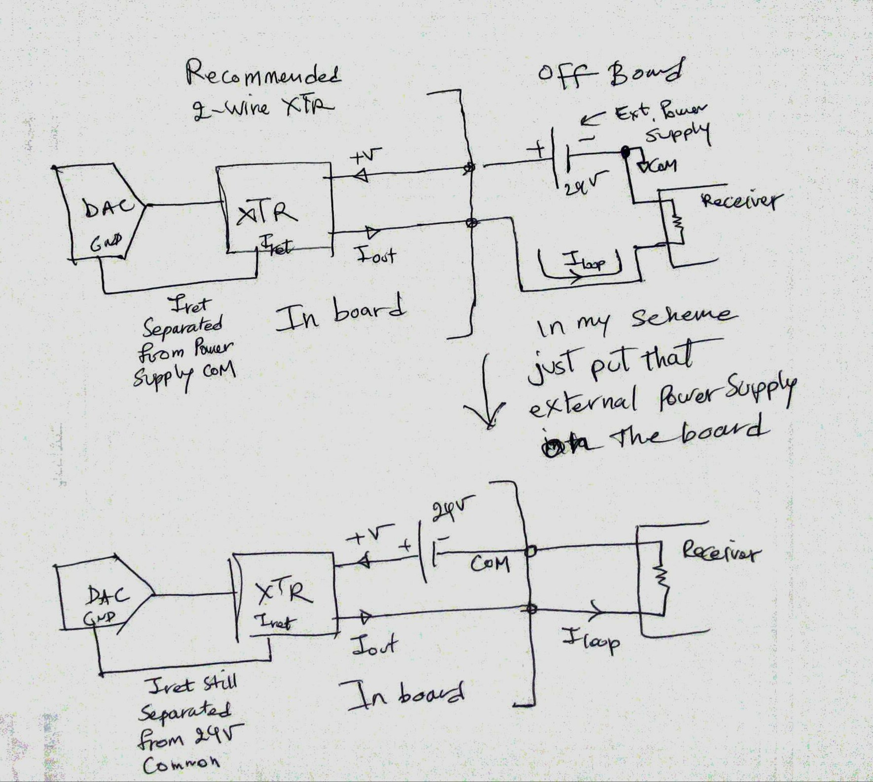 Xtr116 An Issue About Using 2 Channel 420ma Active Loop Based On 2wire Wiring Diagram T1 Technically This Is What I Want To Do With Wire