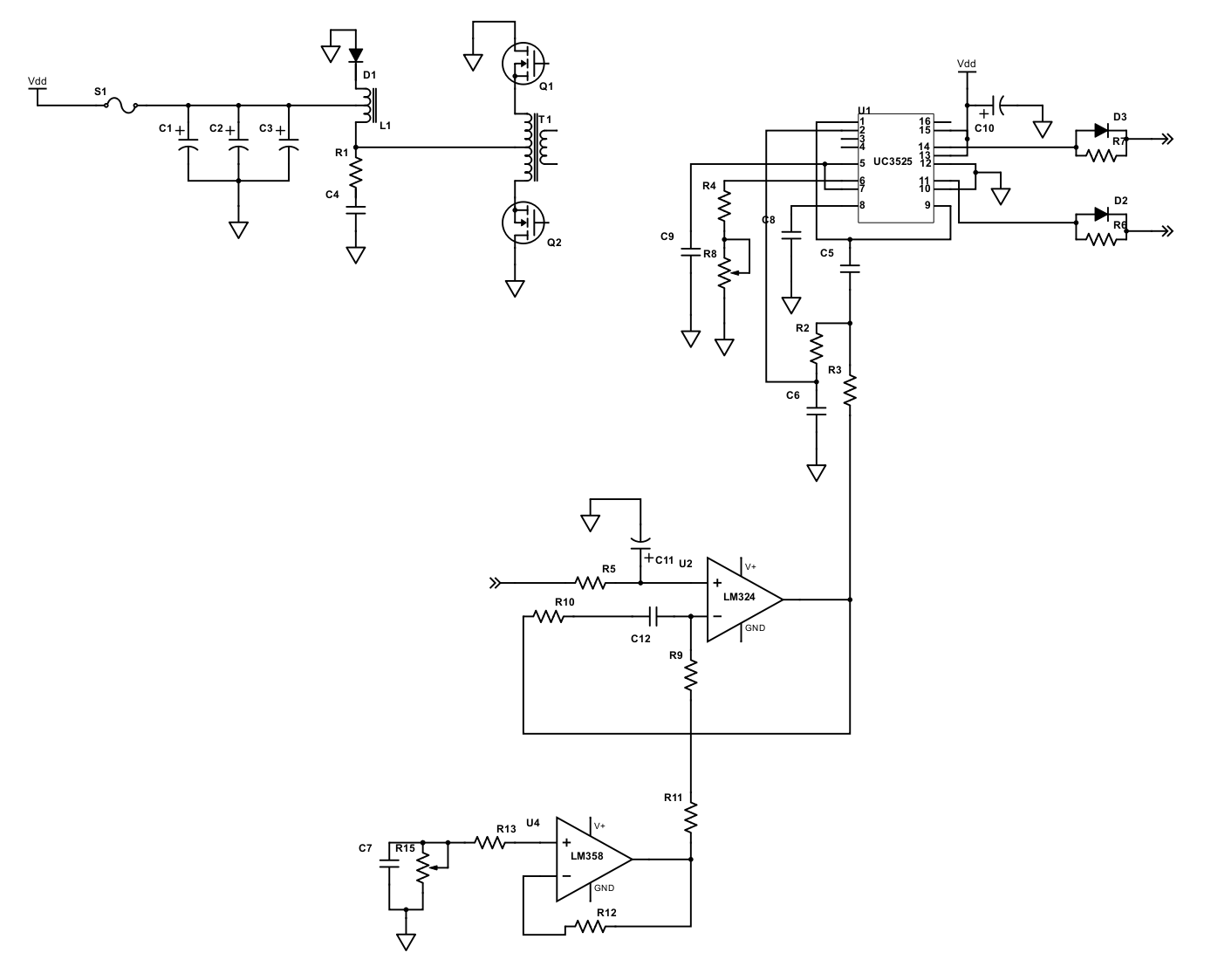 Resolved] LM358: Function of LM358 in circuit inverter