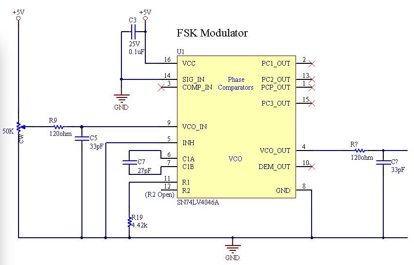 Resolved] SN74LV4046A: FSK Modulation / Demodulation Troubles