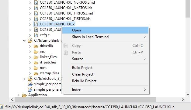 CC1350STK: data transfer from CC1350 STK to esp32 via
