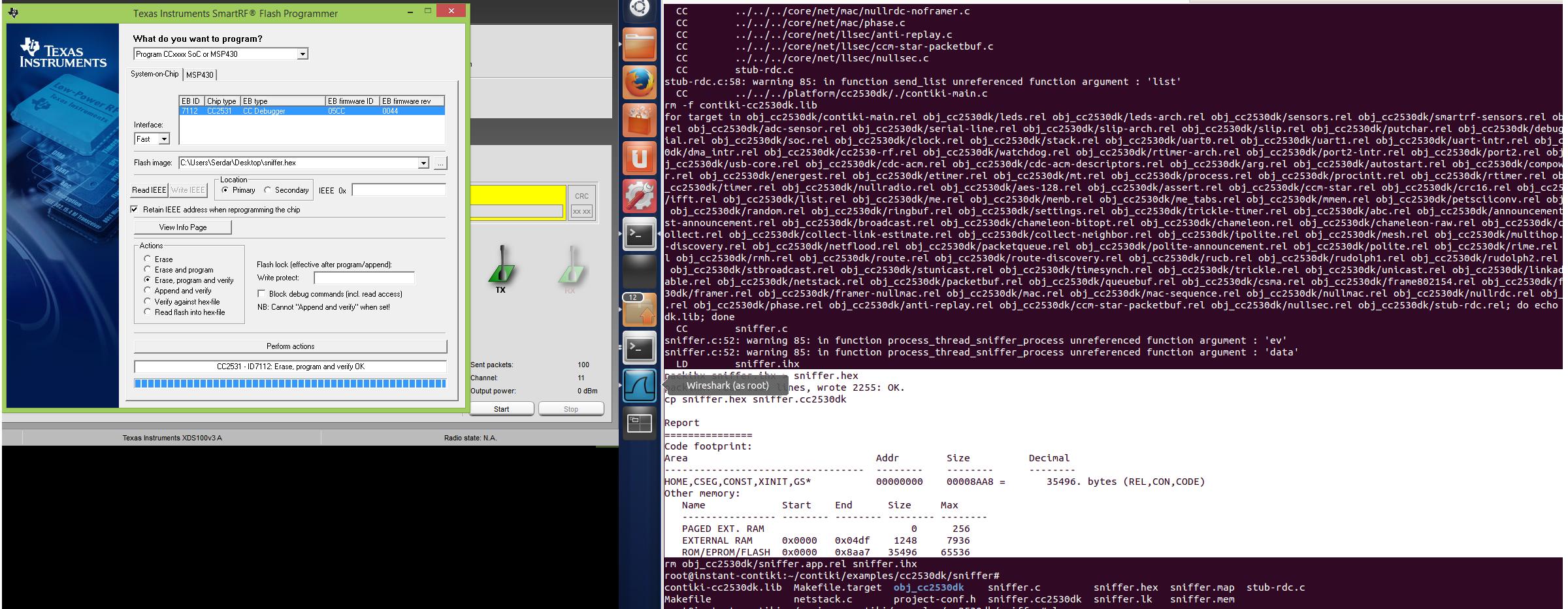 CC2531 usb dongle contiki sniffer firmware - Zigbee & Thread forum