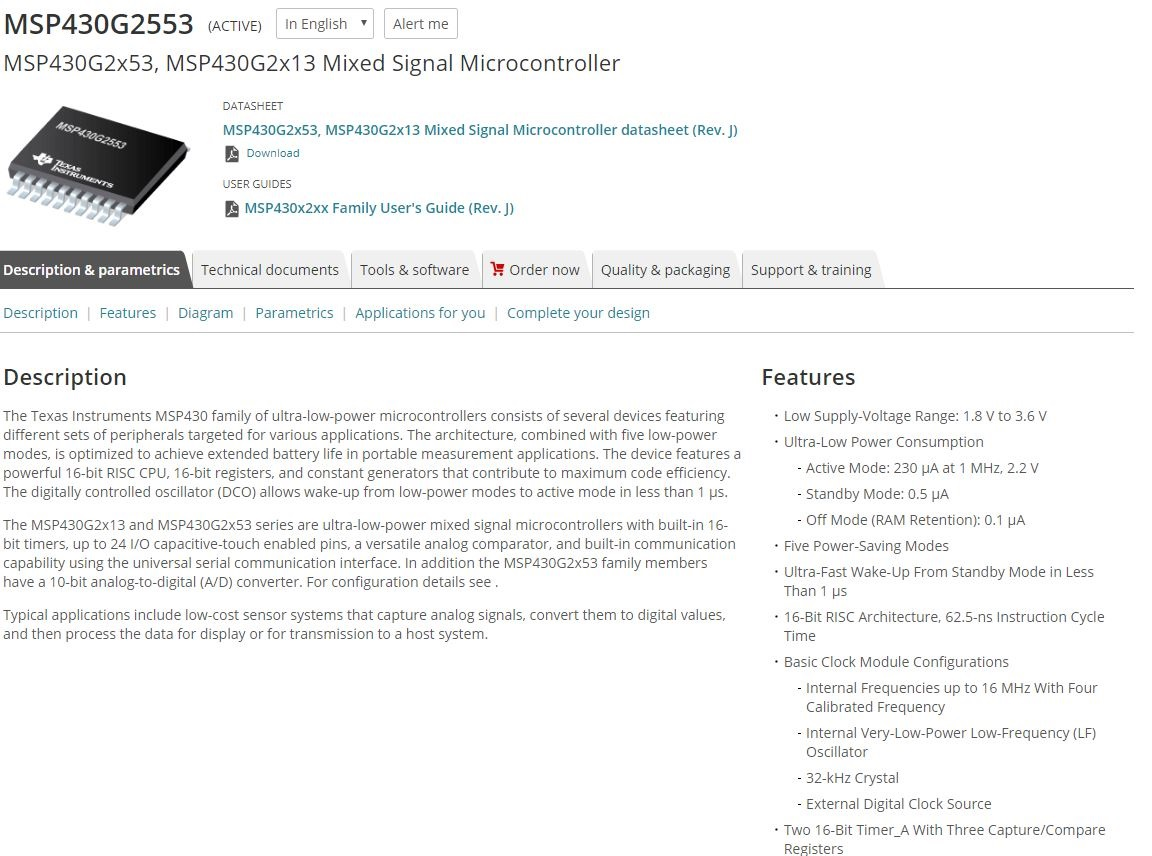 Resolved] msp430g2553: msp430g2553 msp low-power microcontroller.