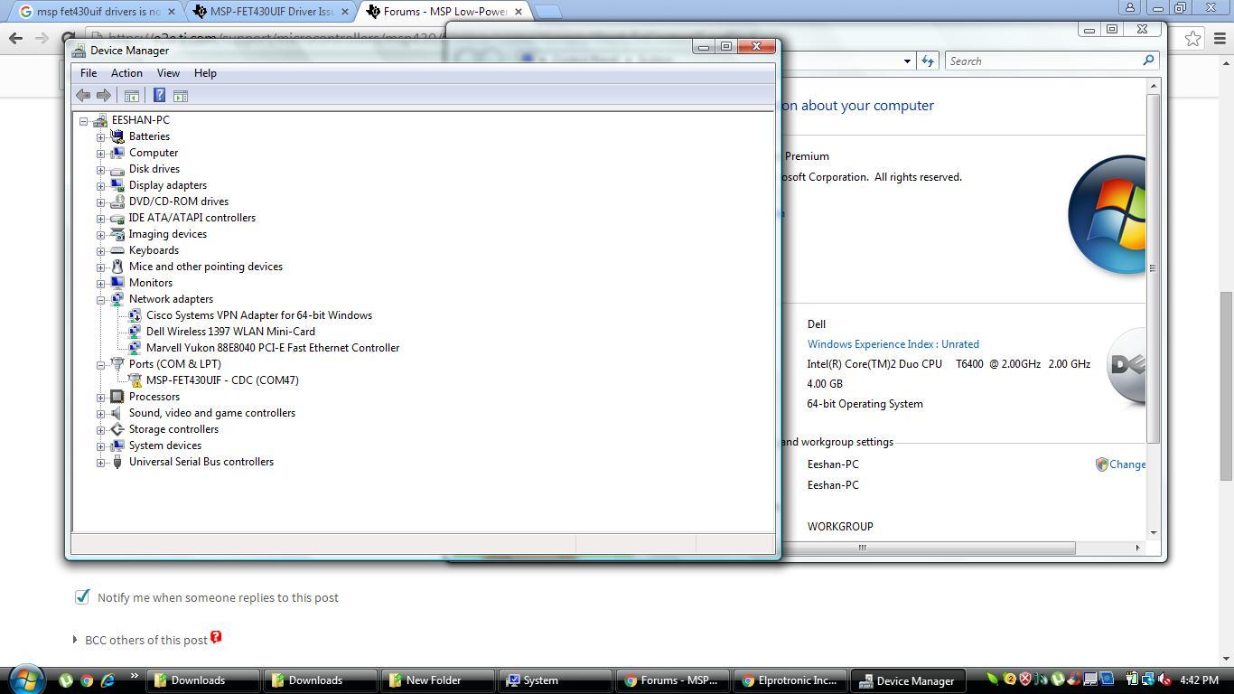 program is not dumping in flash memory - MSP low-power