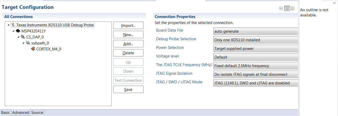 Resolved] CCS/MSP432E411Y-BGAEVM: XDS110 Error connecting to