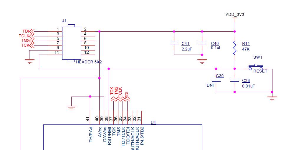 Resolved] MSP430F2370: Programming custom board - MSP low
