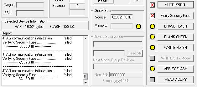 blank board serializer image start failed
