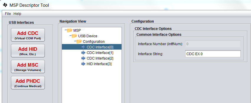 MSP430F5529: MSP430 USB Developer Package, USB Descriptor