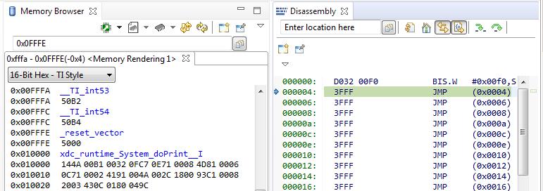 RTOS/MSP430FR6989: AutoRun: Target not run as the symbol