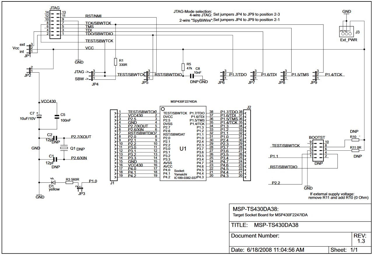 CCS/MSP430F2274: Connecting to UART with MSP-FET? - MSP low