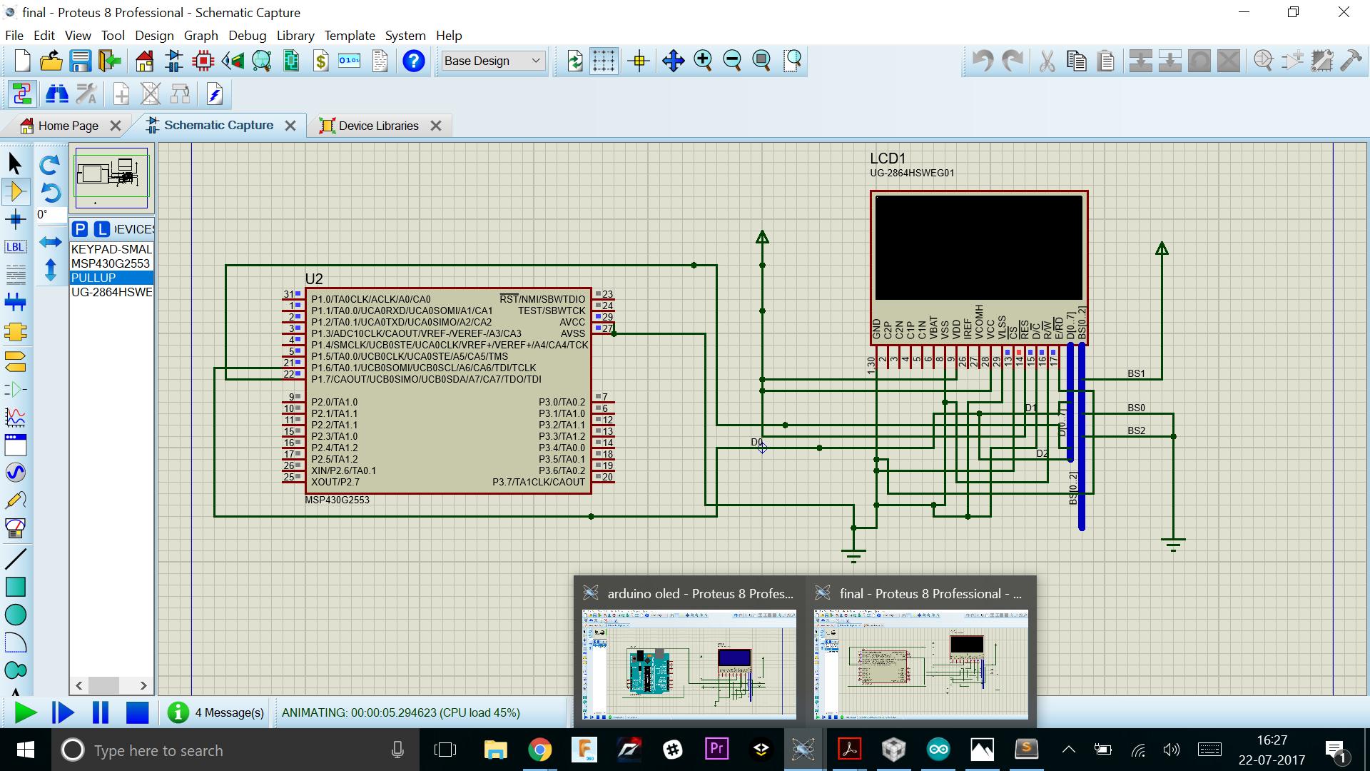 MSP430G2553: PROTEUS SIMULATION ERROR - MSP low-power