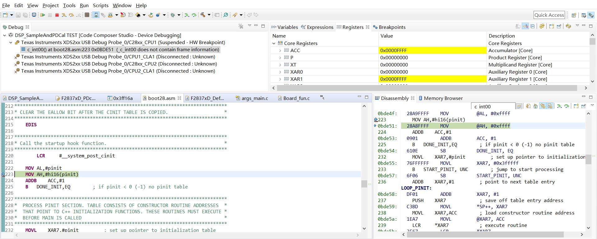 CCS/TMS320F28377D: 0x3FE493(no symbols are defined) error