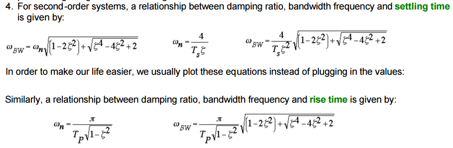 Diffrence between bandwith of software code & bandwith of bode plot