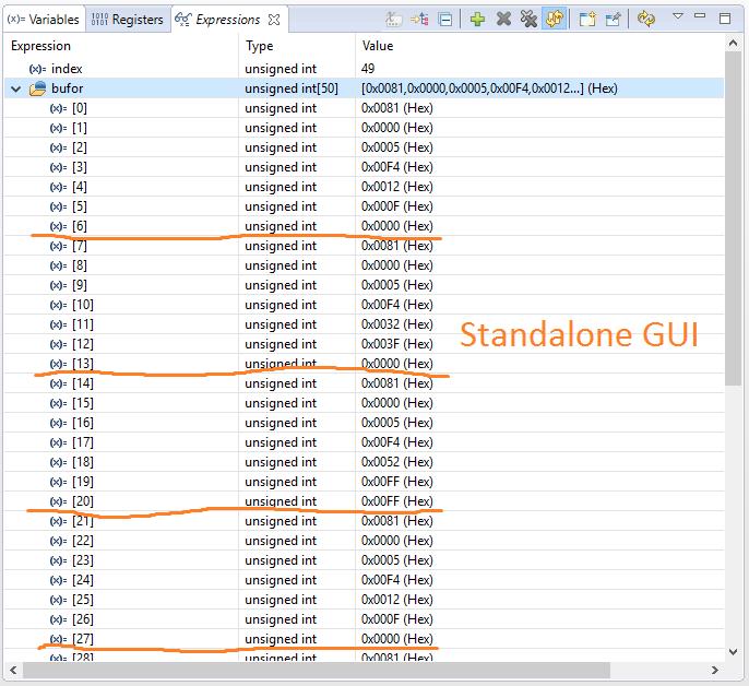 LAUNCHXL-F28379D: GUI Composer v2 UART monitor not working