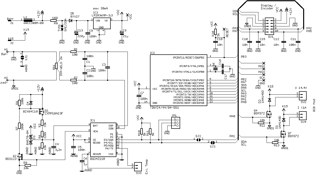 bq34z110  help check mcu  bq34z110 schematic and some query - battery management