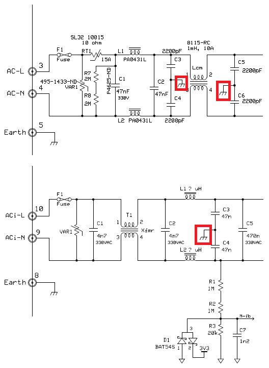 Resolved ground earth connection in acdc power supplies acdc in several kits from ti for boost power factor correction ive seen the following earth connections at ac side ccuart Images