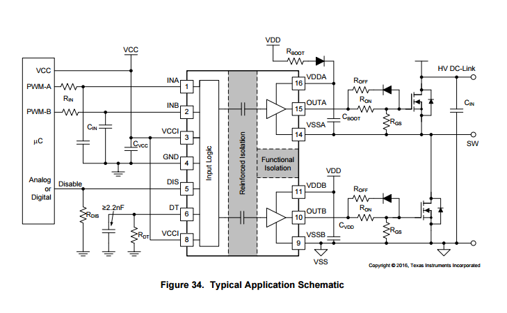 drive power mosfet using ucc21520  dc and isolated dc
