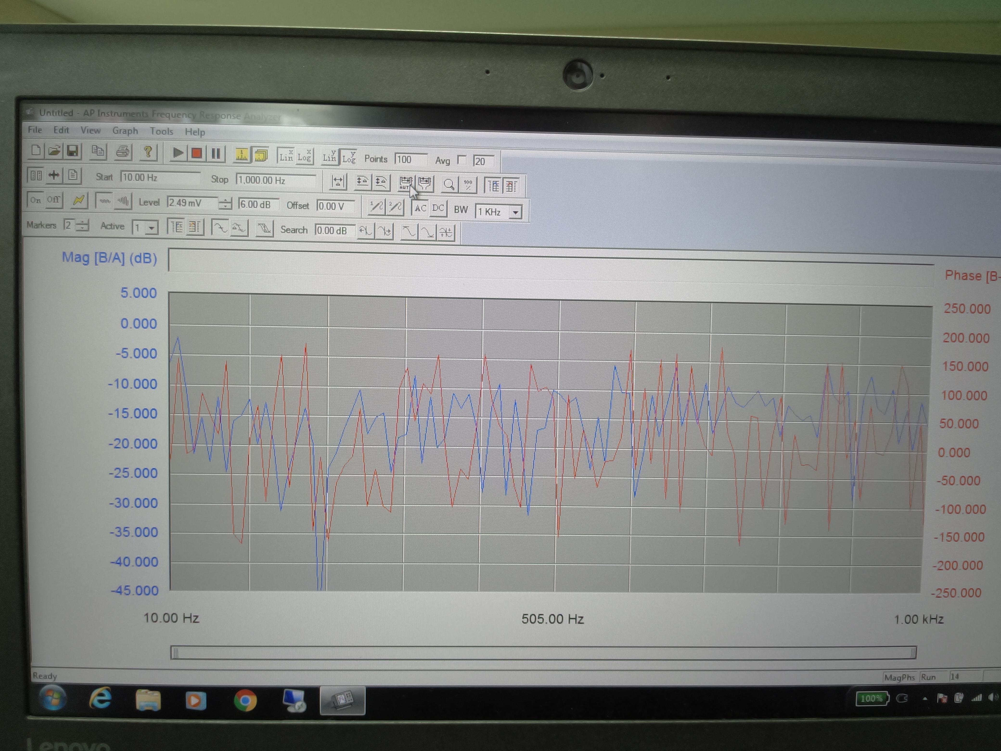 Frequency Response Analyzer : Ap frequency response analyzer erratic bode plot ac