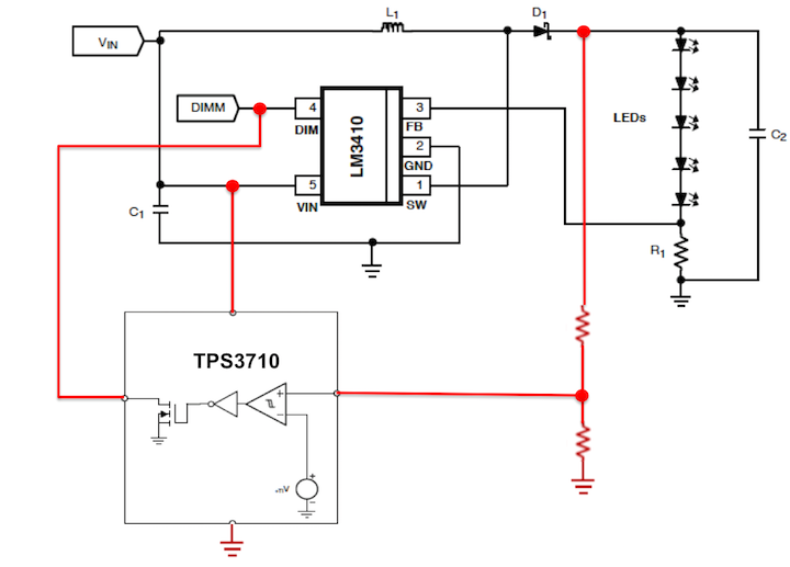 protect lm3410 when load not connected