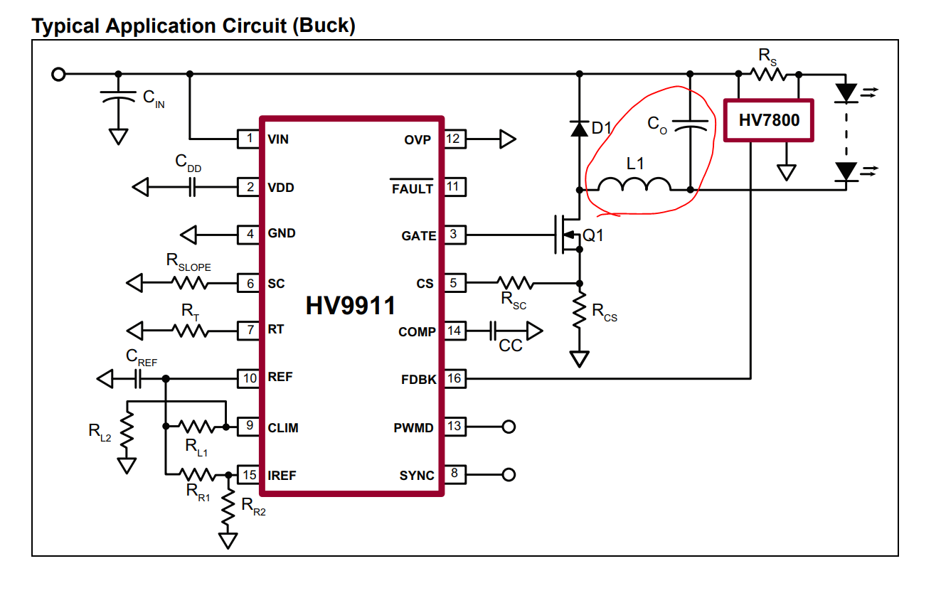 Resolved] Calculate Inductance for the buck mode of HV9911