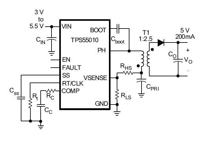 Resolved] TPS55010: Confused as to the direction of the transformer