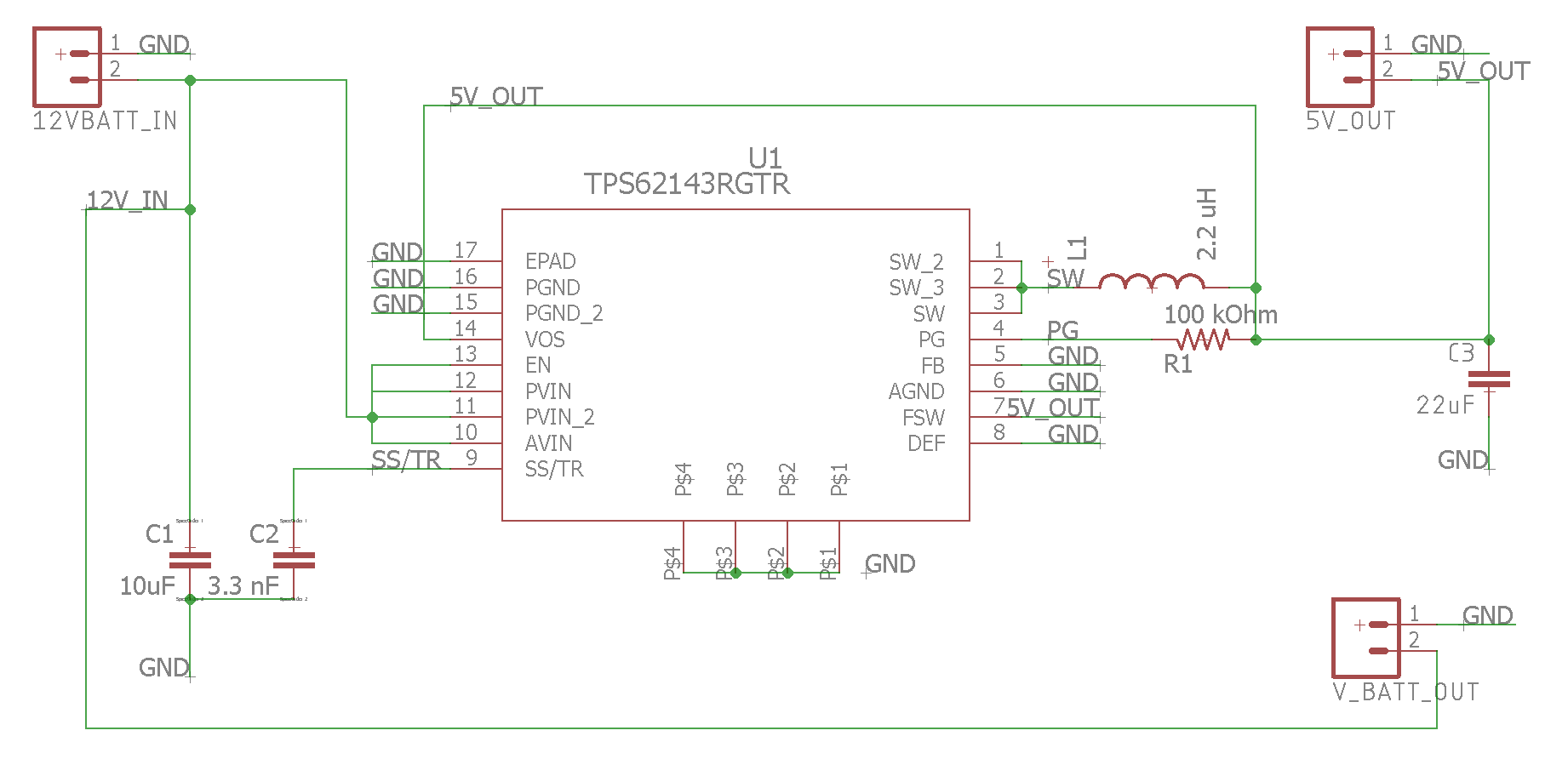 Resolved Tps62143 Dc Converter Not Supplying Sufficient Current 12v To 5v Circuit My Board
